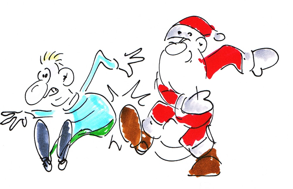 Lustige Weihnachtsmann Videos