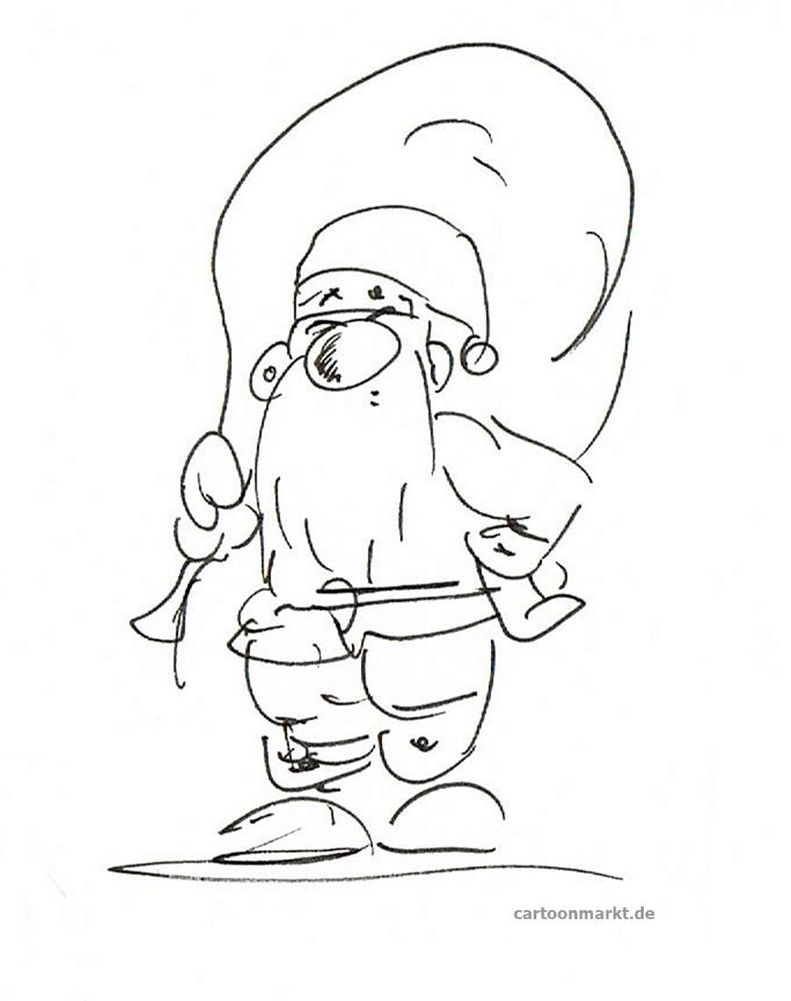 Cartoonmarktaktuell Lustiger Weihnachtsmann Cartoon Und